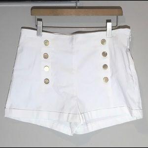 White GUESS high waisted sailor shorts - sz 6